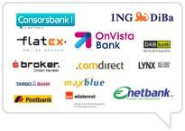 Vielzahl deutscher und ausländischer Depotbanken