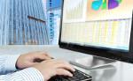 Bild zeigt einen Computerbildschirm mit Aktienkursen