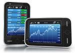 Tablets mit Aktiencharts